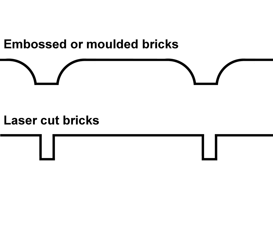 How to paint laser cut brickwork 4
