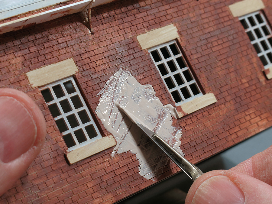 How to paint laser cut brickwork 5