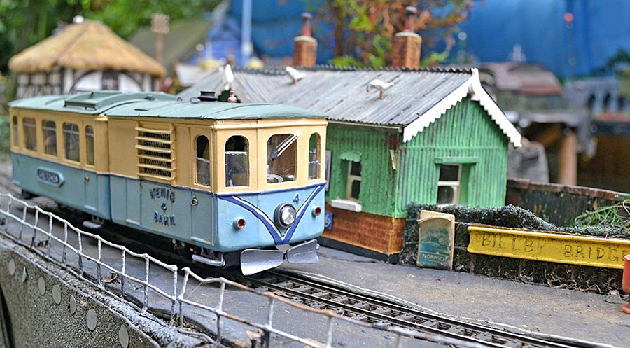 Biscuit Tin Railway trams