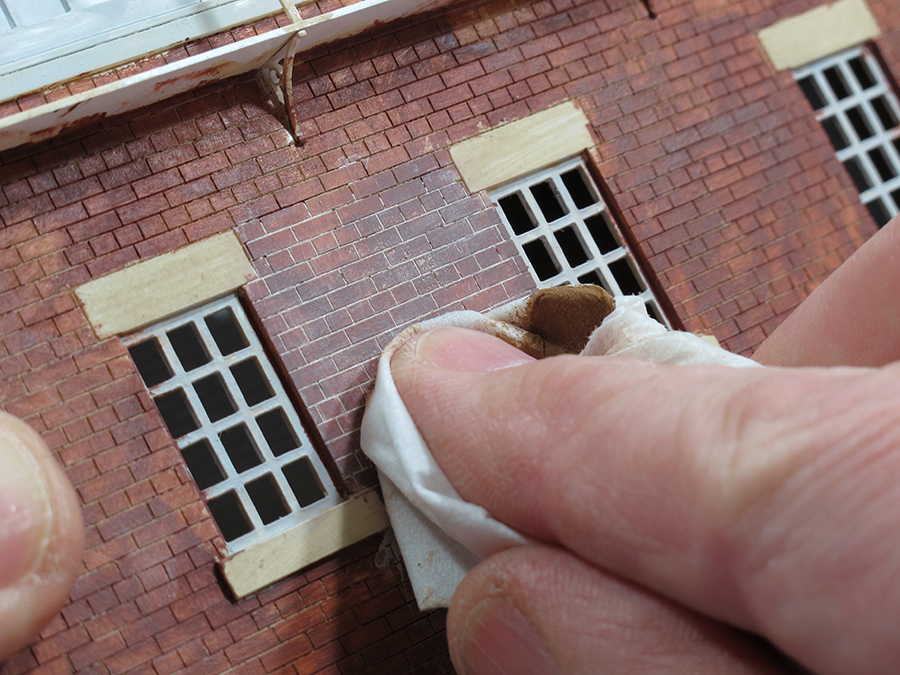 How to paint laser cut brickwork 6