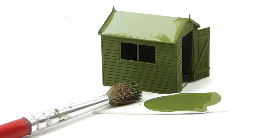 How to paint a model shed