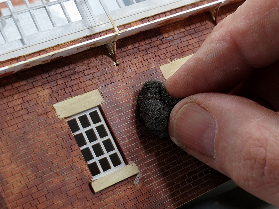 How to paint laser cut brickwork 7