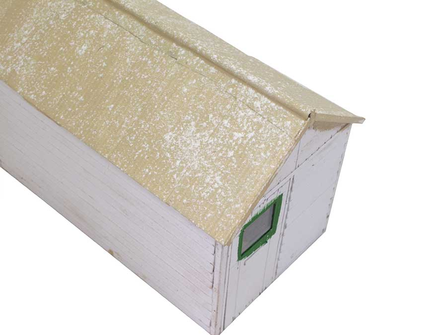 paint cardboard office roof with Humbrol