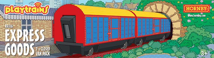 Hornby Playtrains closed van pack