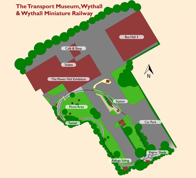 Wythall Miniature Railway plan