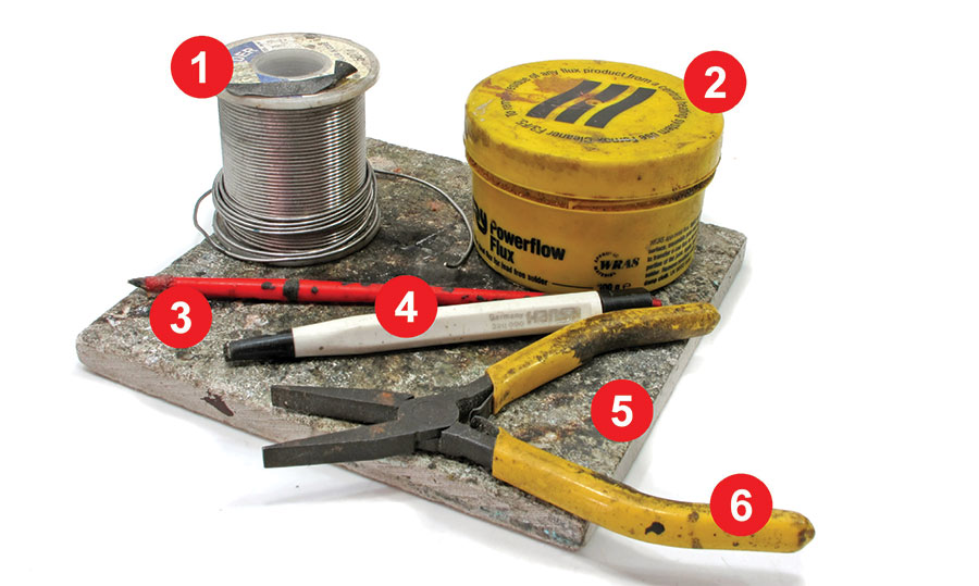 Essential tools for soldering