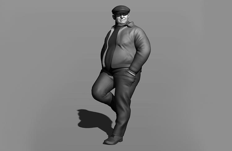 Fine scale model figures