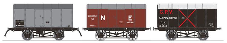 Gunpowder van composite Rapido Trains UK