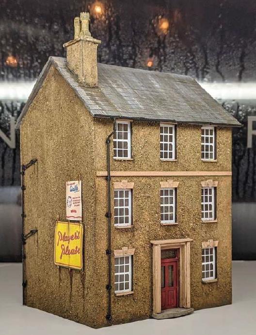 Modelu house guttering