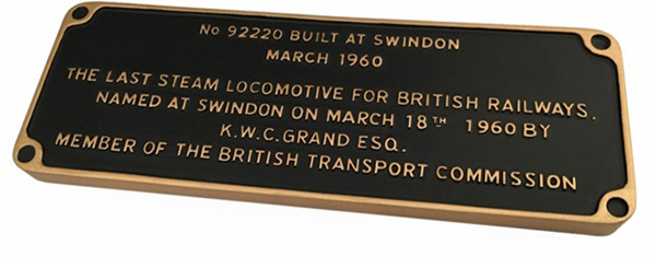9F commemorative plaque