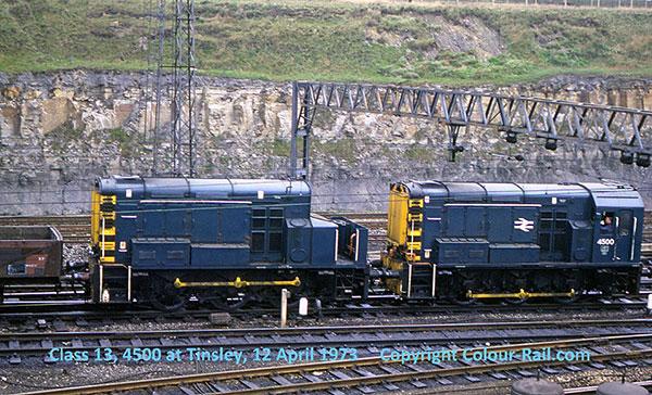 Class 13, 4500 at Tinsley, 12 April, 1973.