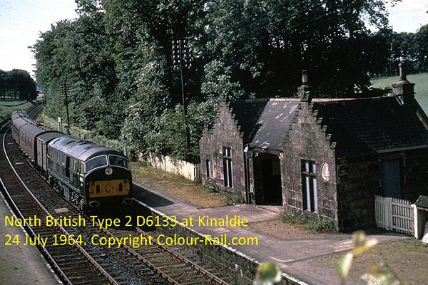 North British Type 2 D6133 at Kinaldie, 24 July, 1964.