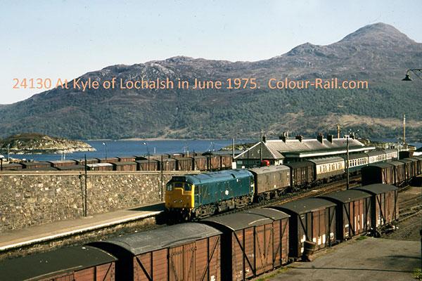 24130 at Kyle of Lochalsh in June, 1975.