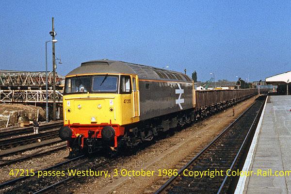 47215 passes Westbury, 3 October 1986.