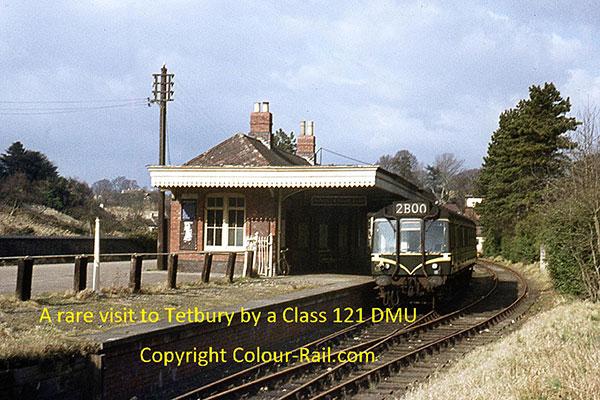 A rare visit to Tetbury by a Class 121 DMU.