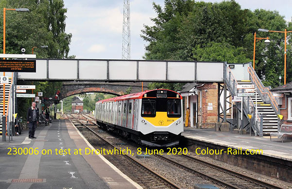 230006 on test at Droitwhich, 8 June 2020.