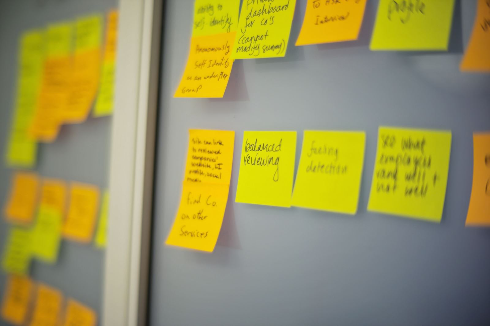 Many authors use post it notes to plot their story outlines